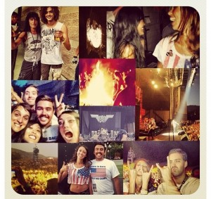 Be wild with your friends at concerts...... Check!
