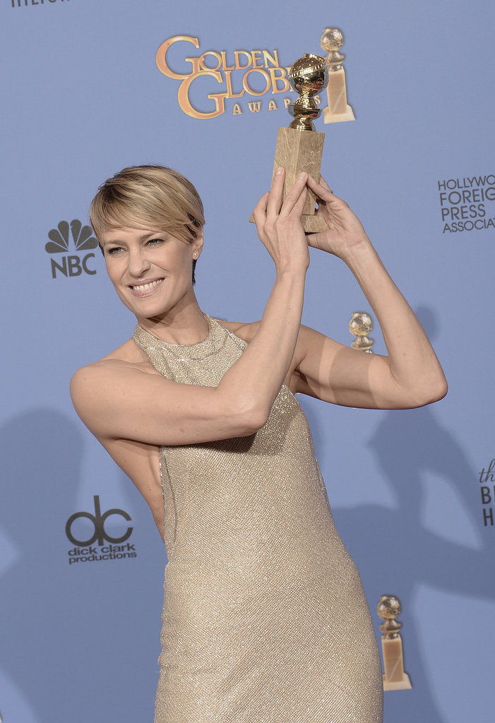 Robin-Wright-Ben-Foster-Golden-Globes-2014 www.catcherinthestyle.com