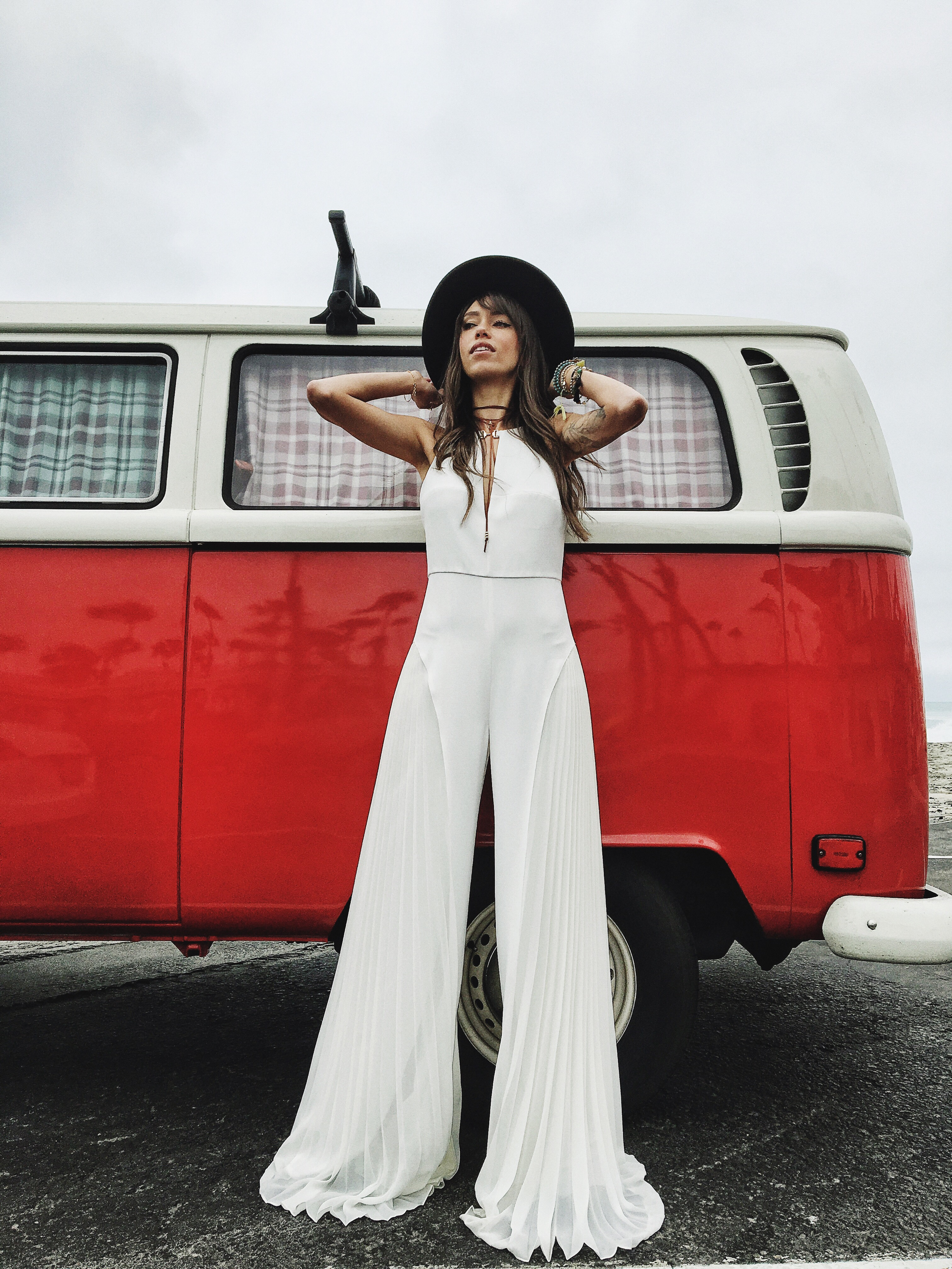 White jump suit Thania Peck 3